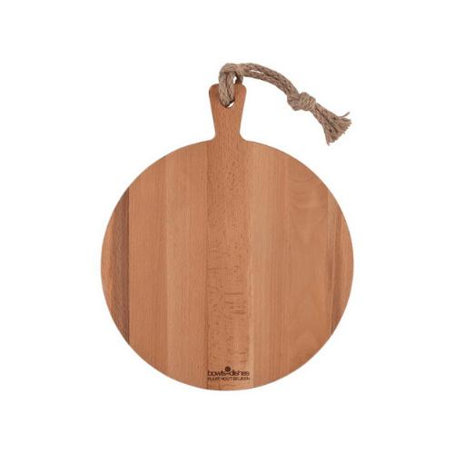 Kaasplank-rond-hout-30cm